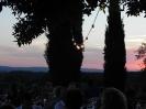 il tramonto con le luci per matrimoni a villore