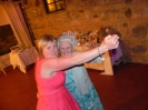 couple dances with her New zeland grandmother  in tuscany