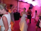 the bride dancing at Tenuta La Borriana